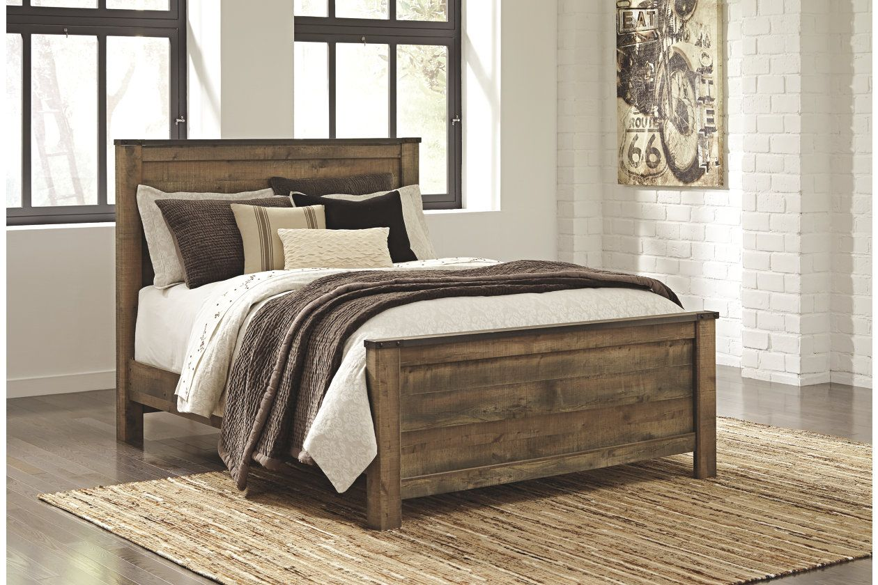 Nd br queen bed trinell queen panel headboard ashley furniture