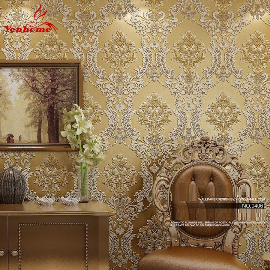 Luxury Classic Wall Paper Home Decor Background Wall Damask