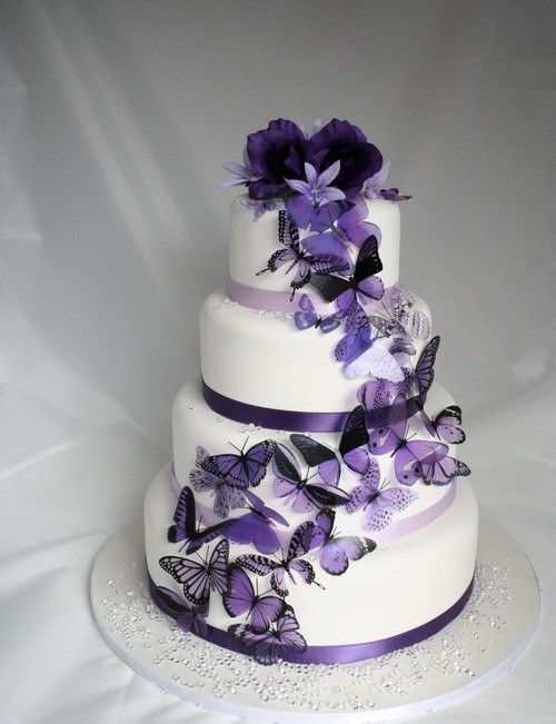 20 pack of Purple Butterflies great for Cake by clearcutcrafts2007, $17.00