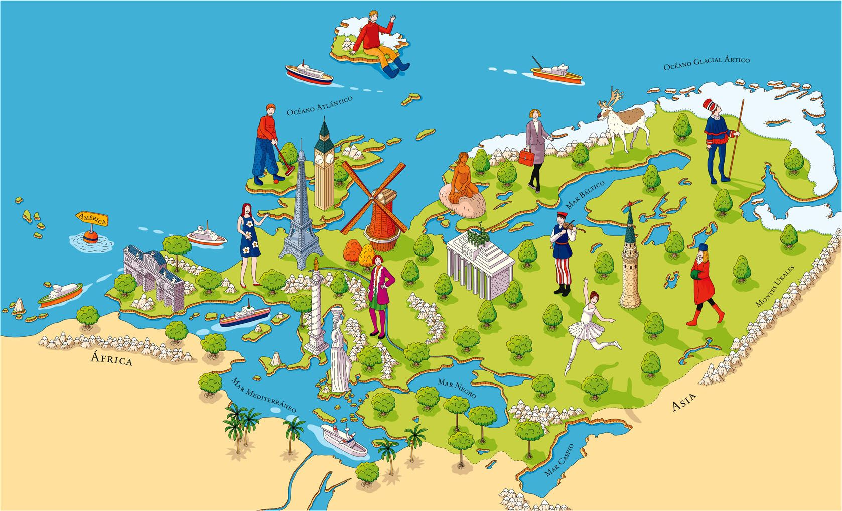 Map of europe quino marin map europe france italy uk germany map of europe quino marin map europe france italy uk gumiabroncs Image collections