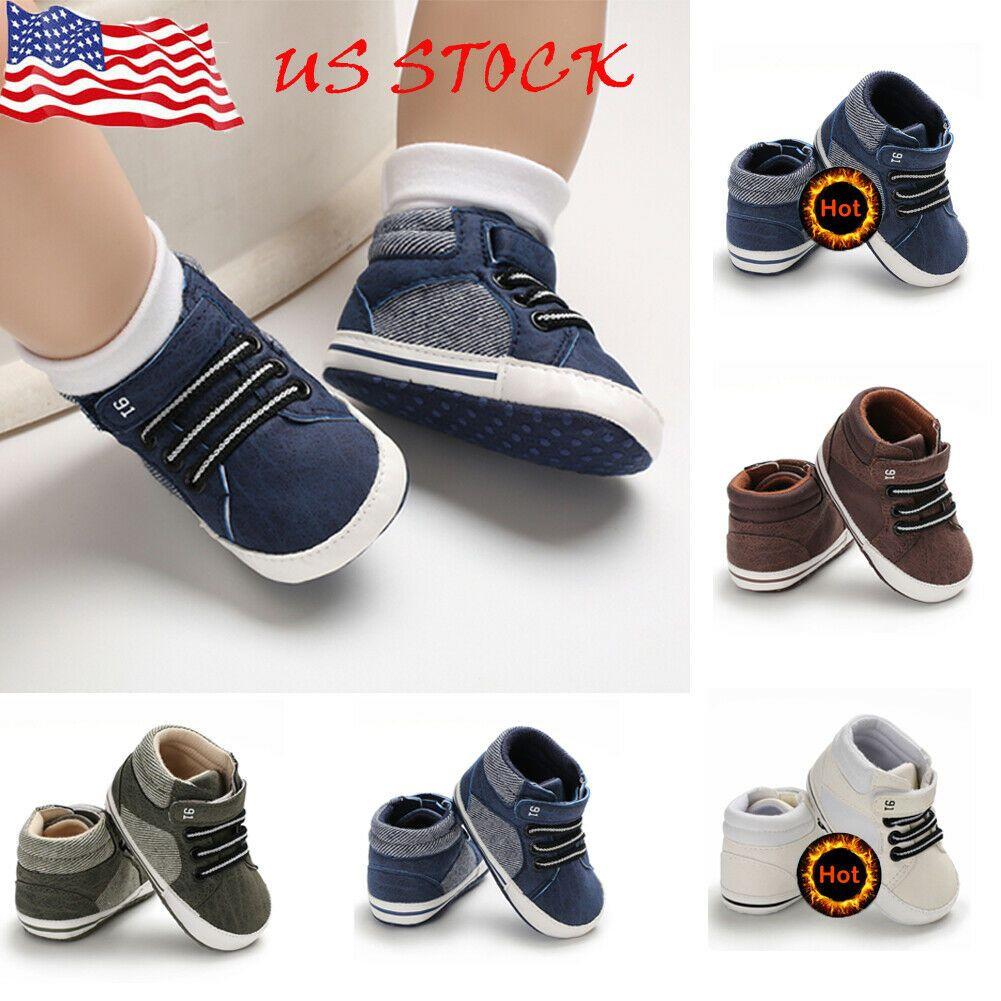 Infant Baby Boy Girl Soft Sole Casual Crib Shoes Prewalker Anti-slip Sneakers