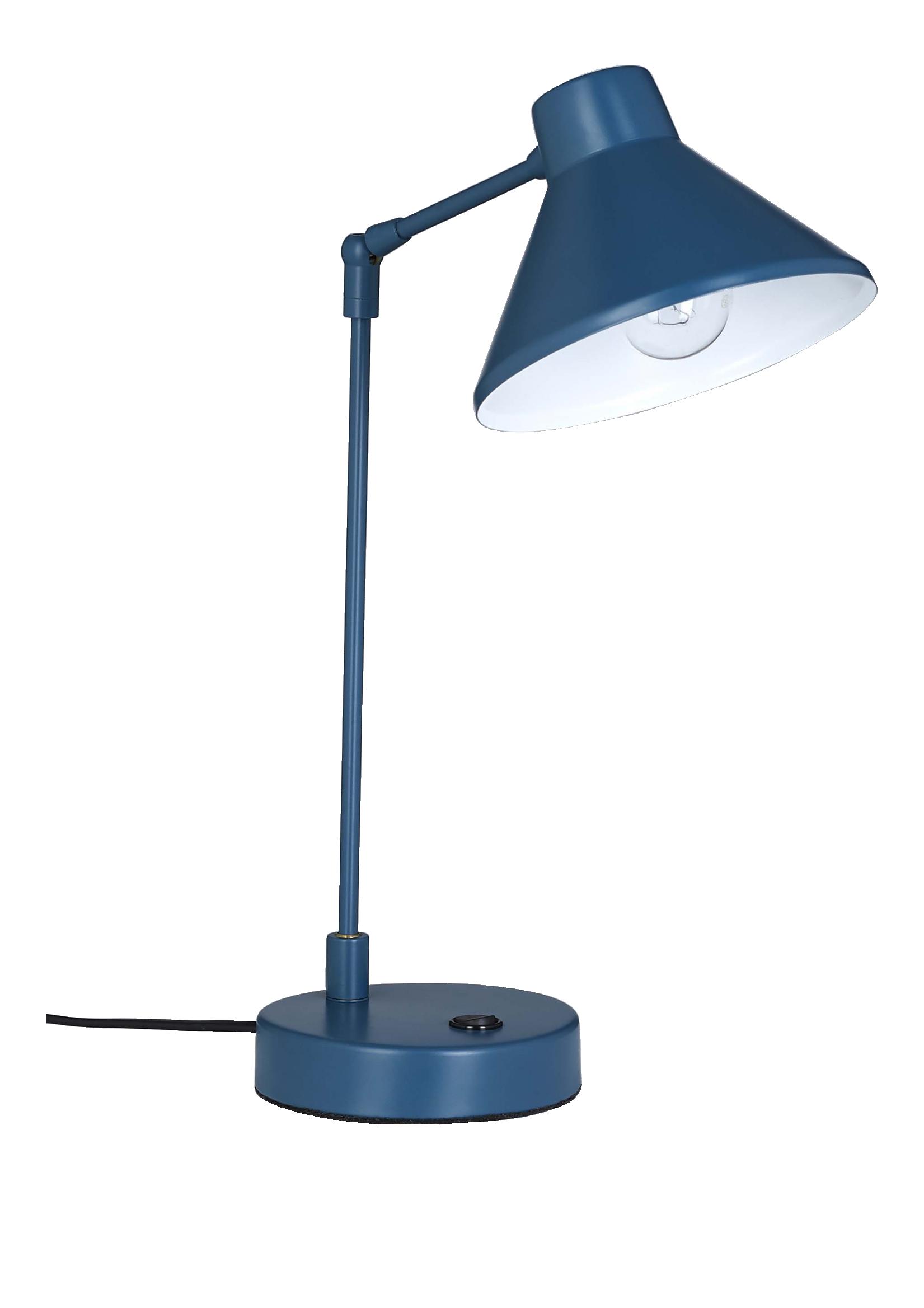 Bobby lampes de bureau bleu p trole m tal luminaires for Designerlampen replica