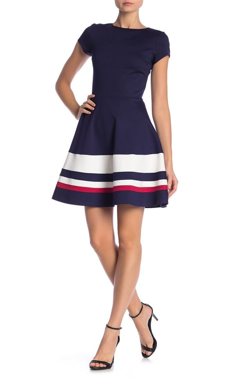 Love Ady Short Sleeve Fit Flare Dress Nordstrom Rack In 2020 Flare Dress Outfit Flare Dress Fit Flare Dress