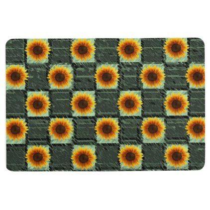 floor mat sunflowers | zazzle | floor mats, sunflower