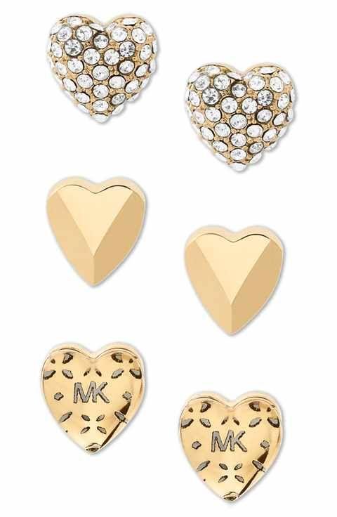 7845e3012687e9 Michael Kors Set of 3 Stud Earrings   Pretty Accessories   Michael ...