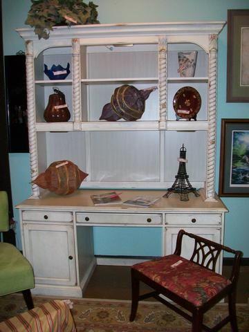 Broyhill Charleston Square Desk With Hutch Designed For Change Augusta Georgia Consignment Furniture S Home Decor