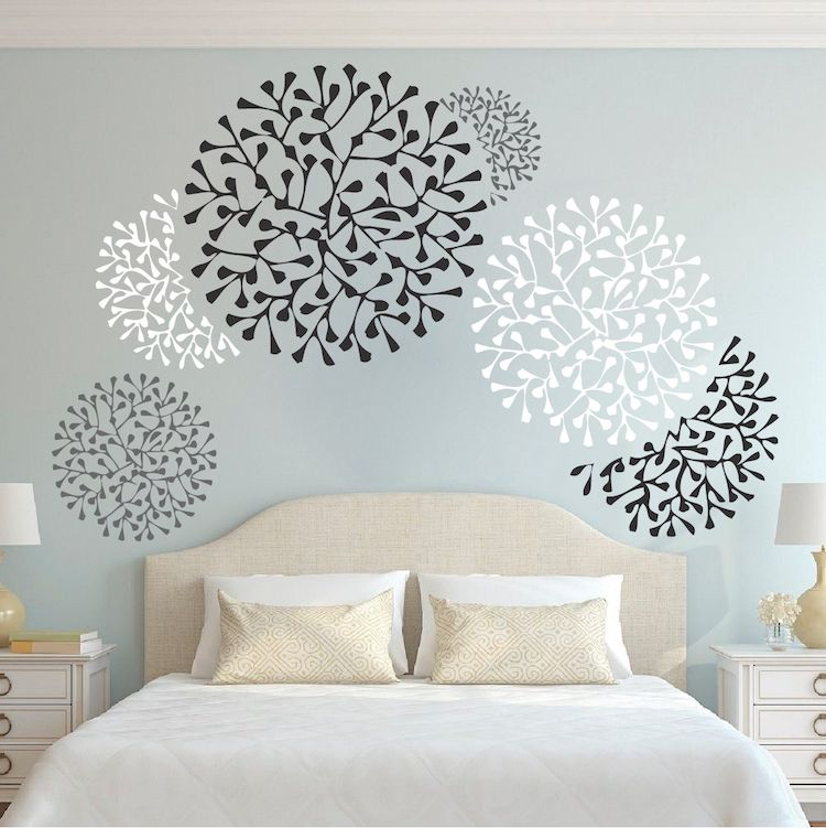 Beautiful Wall Accent Decals Bedroom Wall Stencils Removable Wall Accents Wallpaper Designs From Trendy Wall Designs Bedroom Wall Stencil Wall Decals For Bedroom Wall Paint Designs