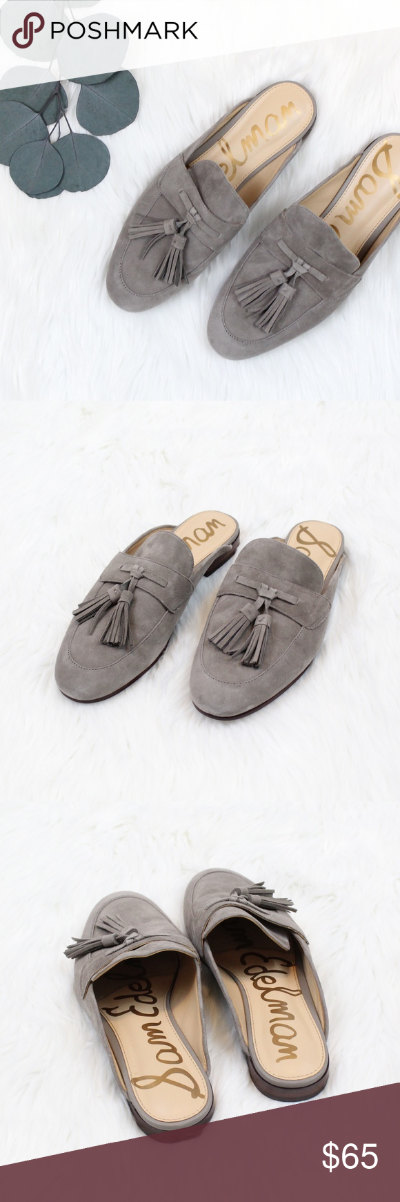 a4857f503 SAM EDELMAN Paris Backless Tassel Loafer in Putty Like new condition! Twin  tassels and traditional