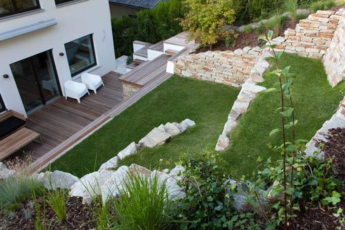 Hanggarten gartencraft* Garten Pinterest Gärten - bilder gartengestaltung hanglage