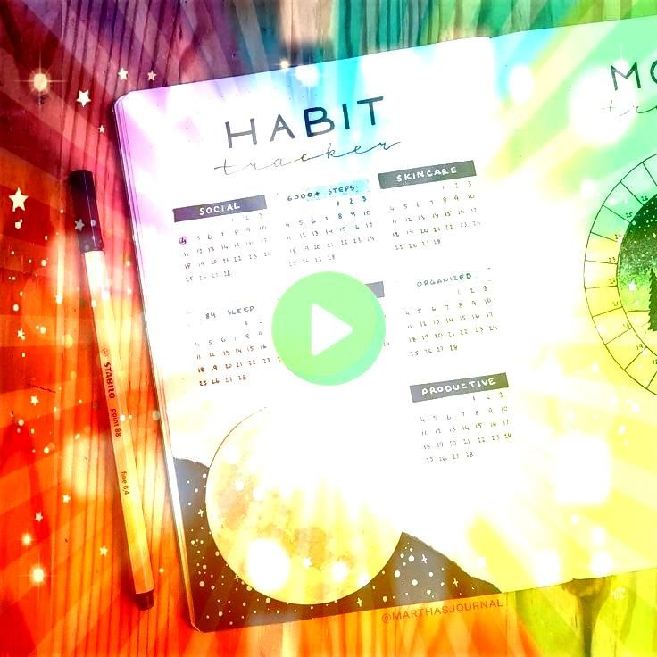 on Instagram Habit tracker for February and a tiny sneak peek of my mood tracker   Also I messed up a drawing and tried to cover it with this moon Martha  on Instagram H...