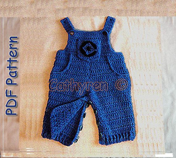 Baby Denim Overalls Buttons At Legs For Easy By Cathyrendesigns