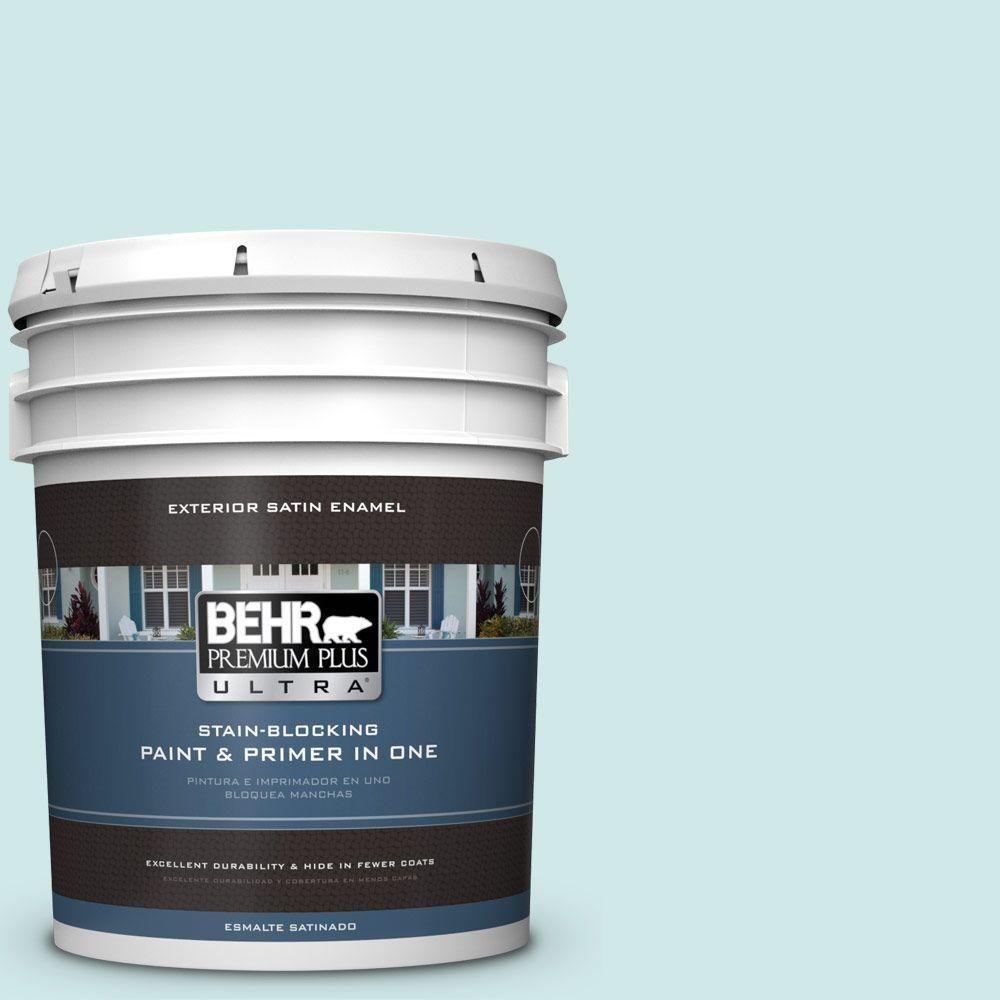 BEHR Premium Plus Ultra Home Decorators Collection 5-gal. #hdc-WR14-5 Icicle Mint Satin Enamel Exterior Paint
