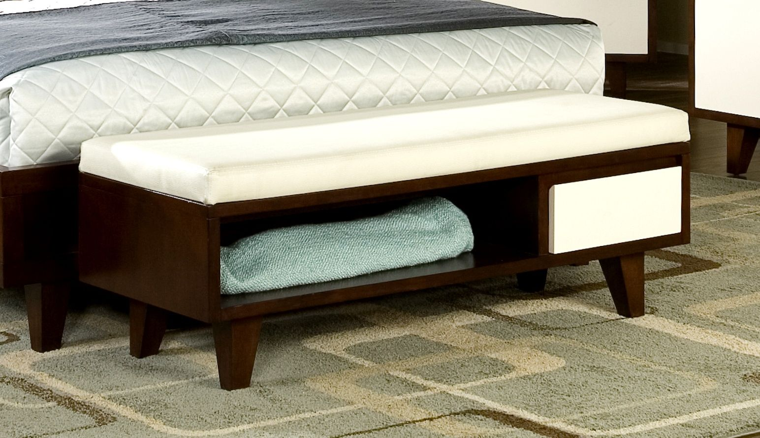 Sculpture of bedroom benches with storage ideas