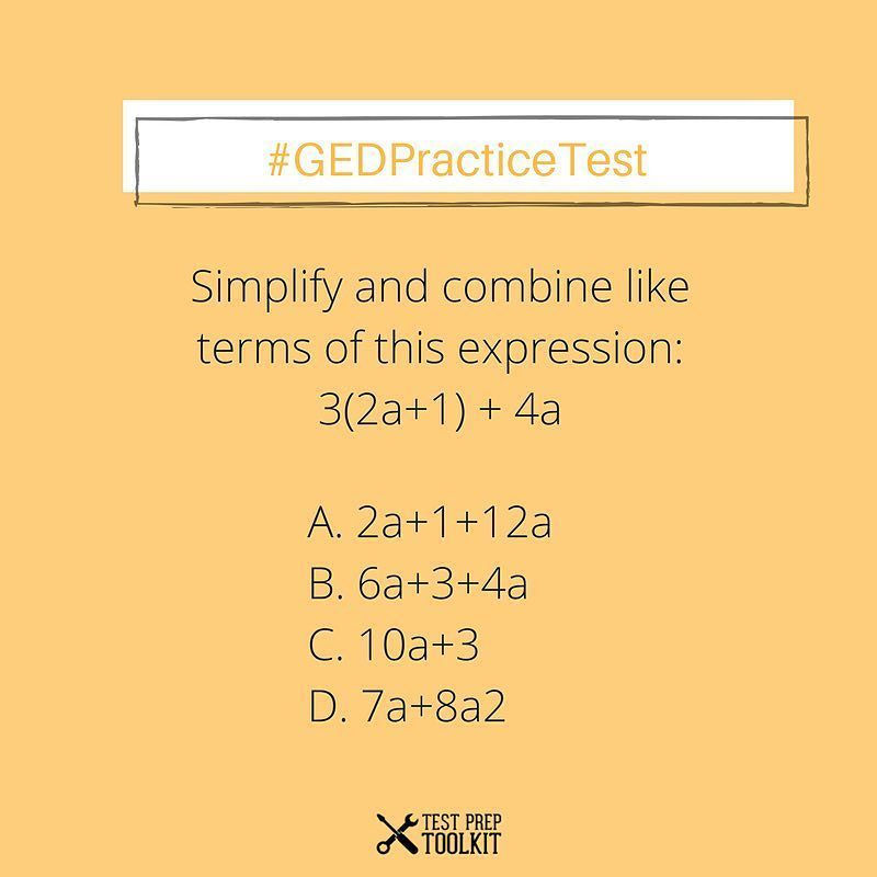 Math Practice Test! Comment your answer below! We have GED re ...