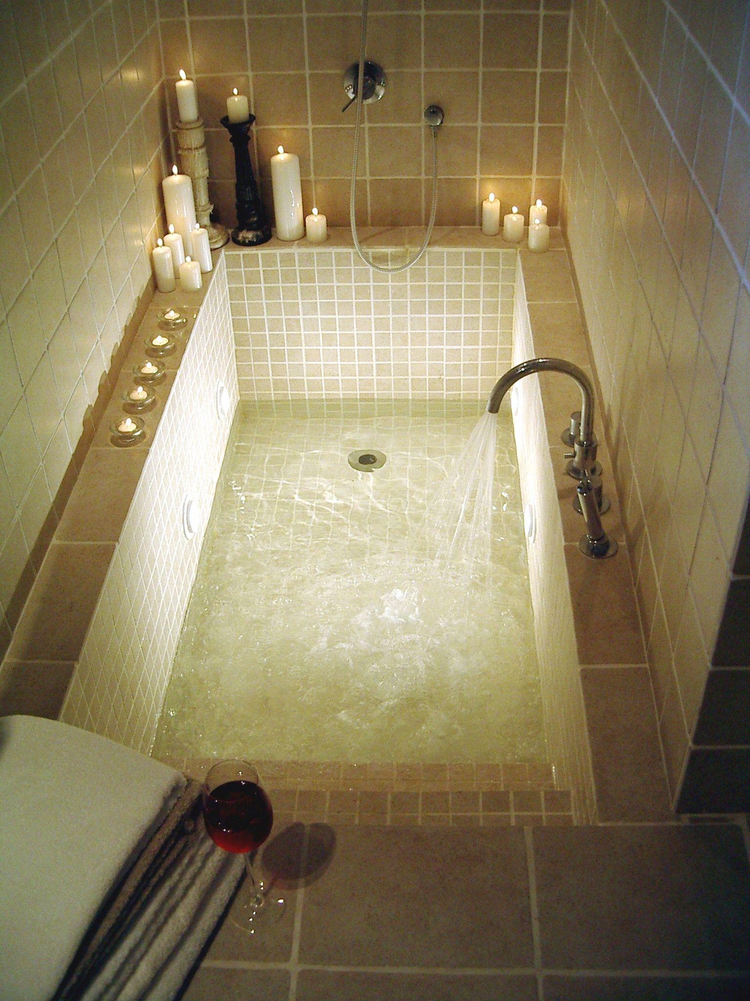 Incroyable Sunken Bath. Love The Idea Of Steps.