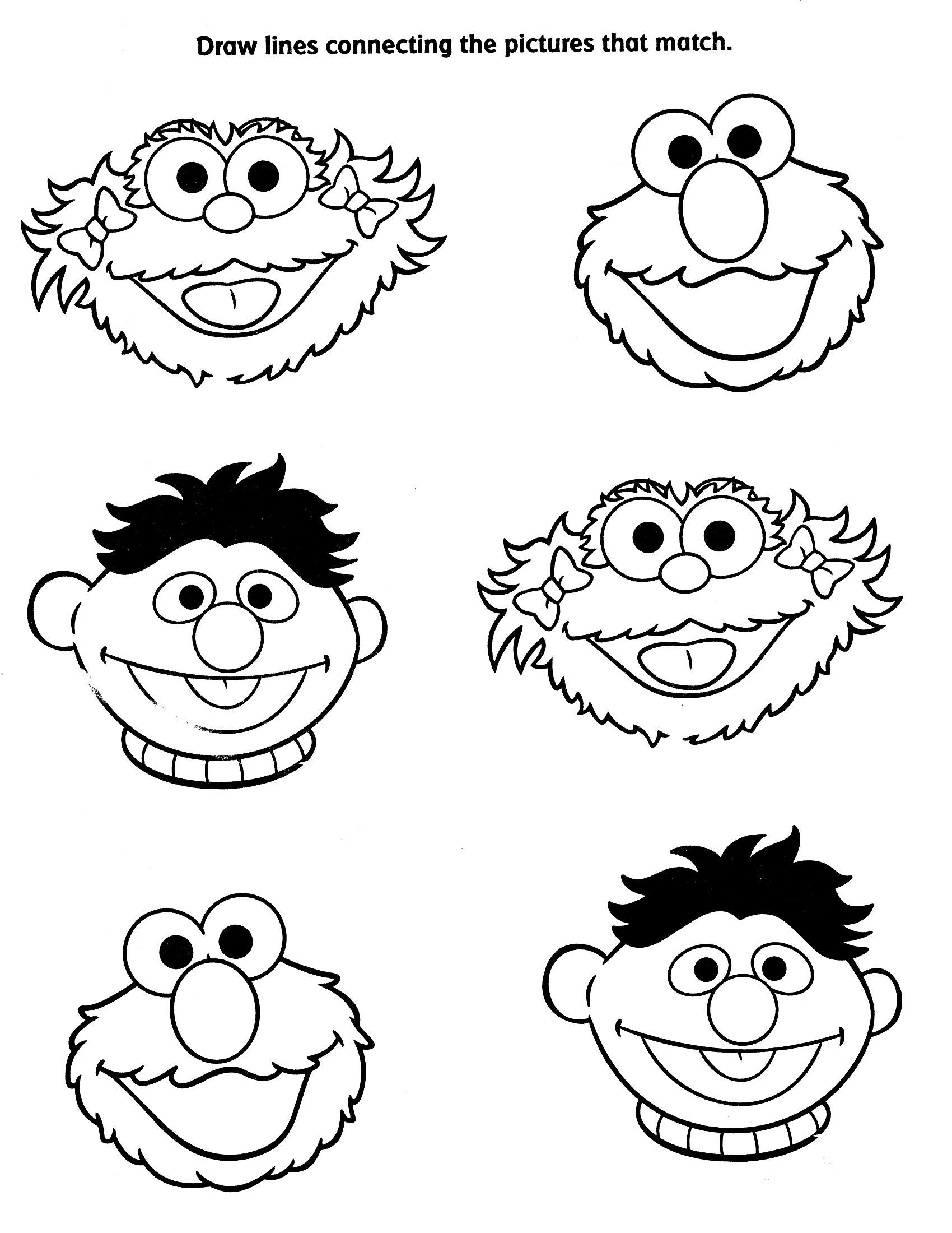 viewing gallery for sesame street characters coloring pages - Sesame Street Coloring Pages Elmo