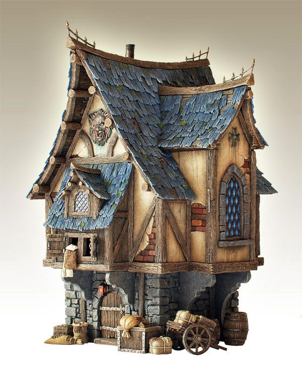 merchant 39 s house lll houses castles for miniature gardens pinterest miniatur modellbau. Black Bedroom Furniture Sets. Home Design Ideas