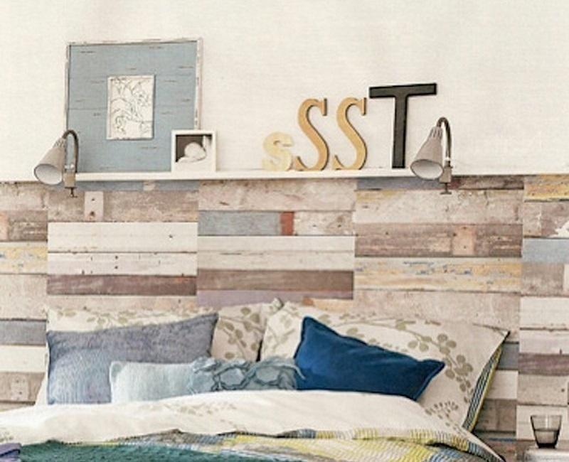 Ideas para hacer cabeceros originales y baratos cabecero for Papel barato pared