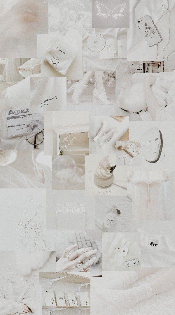White Aesthetic Ilustrasi Poster Gambar Latar Belakang
