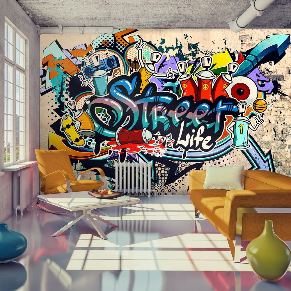 Tapeta Streetart Streetart Hiphop Drekoracja Graffiti Tapeta  ~ Papel De Parede Grafite Para Quarto