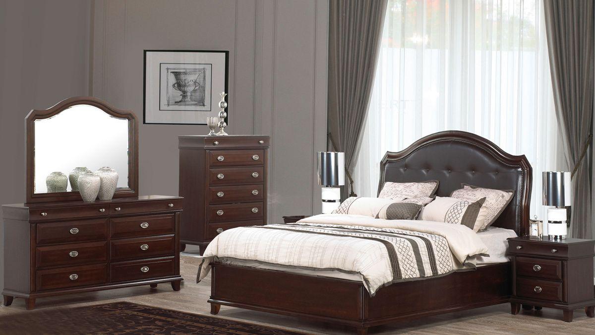 Best Tango Dark Brown Black Wood Master Bedroom Set Master 640 x 480