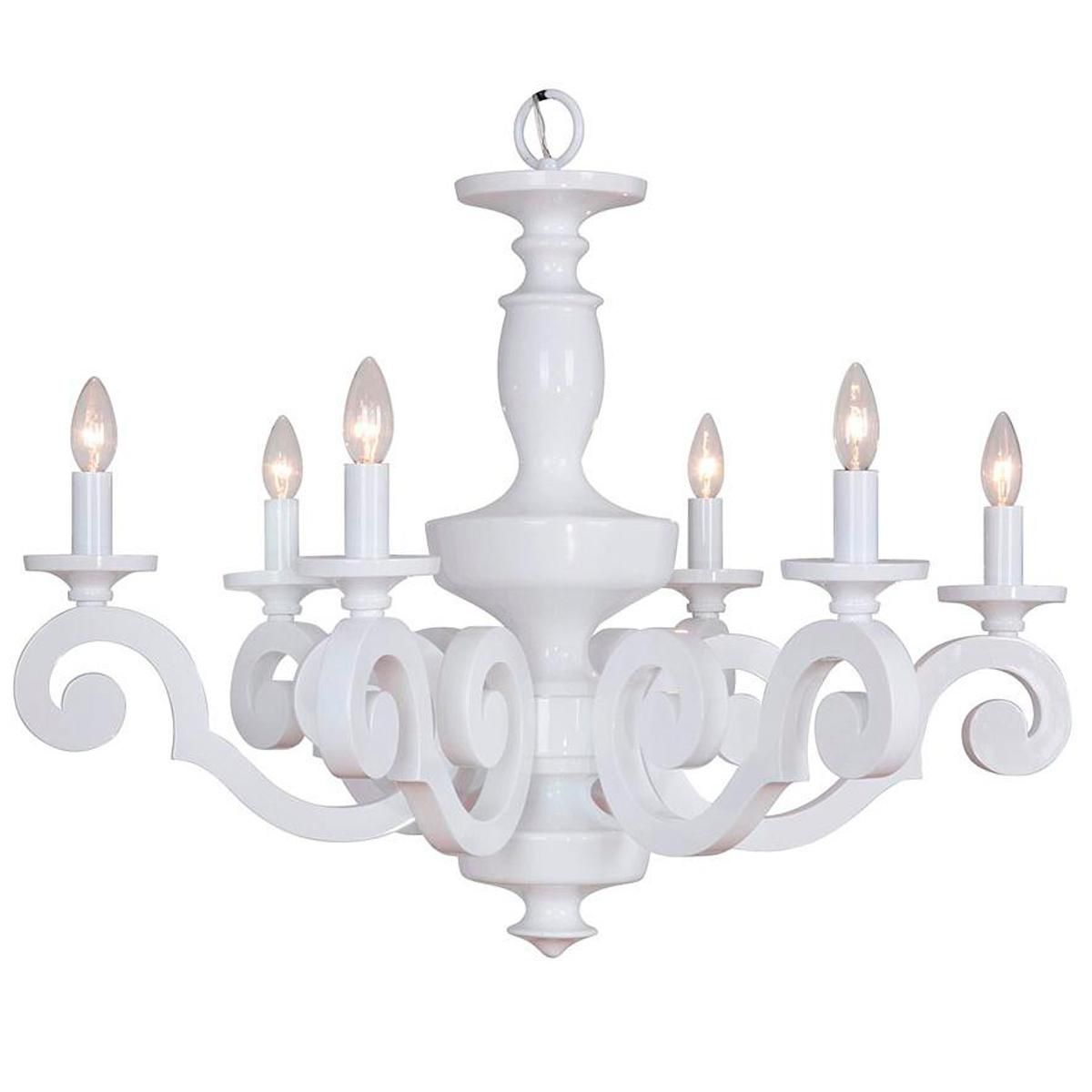 Glossy scroll arm chandelier 6 light chandeliers arms and lights glossy scroll arm chandelier 6 light arubaitofo Image collections