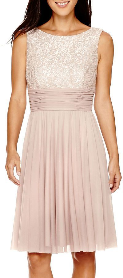 JESSICA HOWARD Jessica Howard Sleeveless Fit & Flare Dress ...