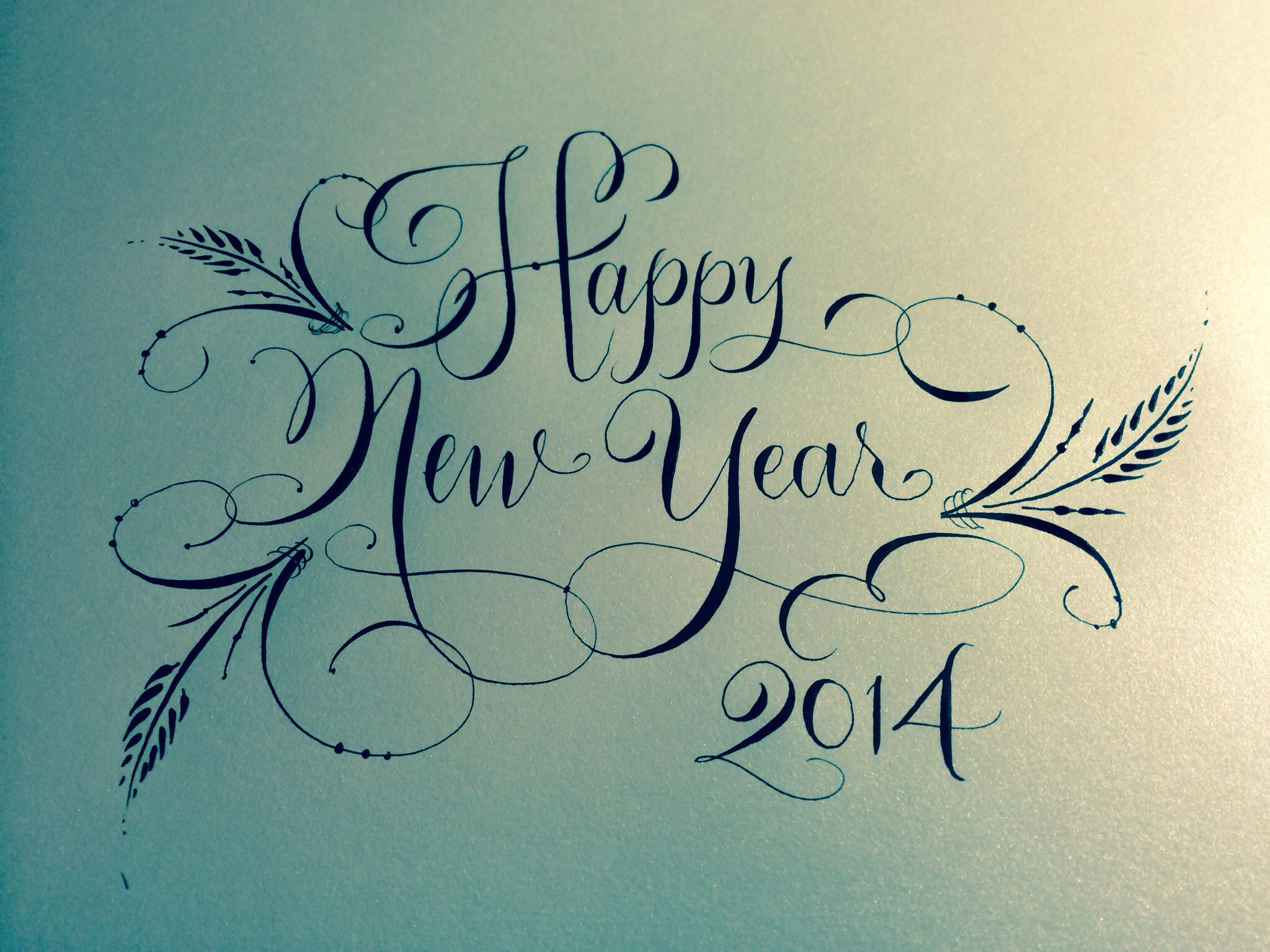 Happy new year from the blooming quill hand calligraphy debi s