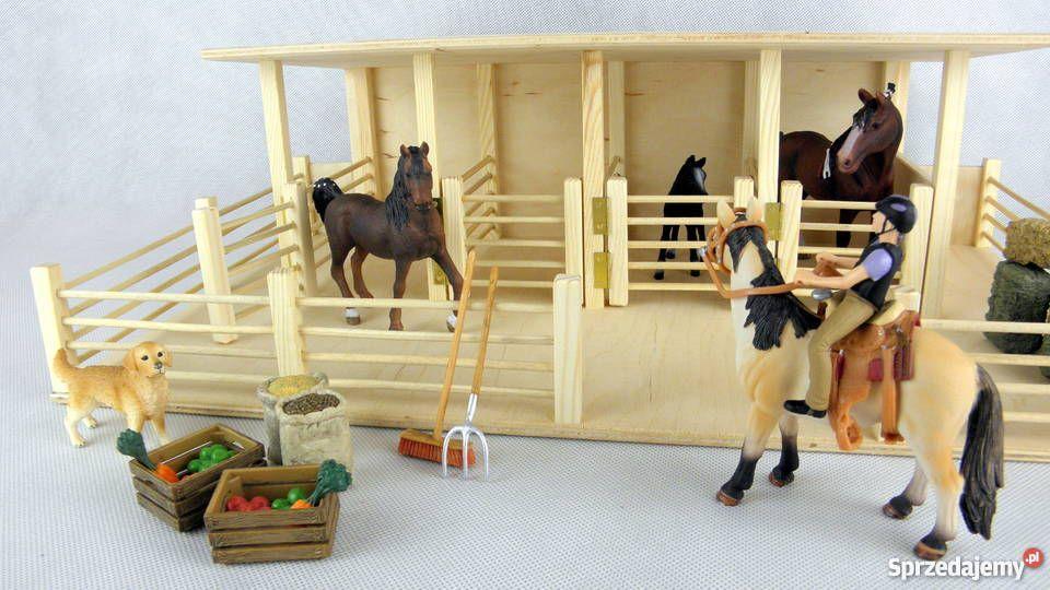 Stajnia Drewniana Koni Schleich Wysoka Jakosc Napachanie Bryer Horses Diy For Kids Park Slide