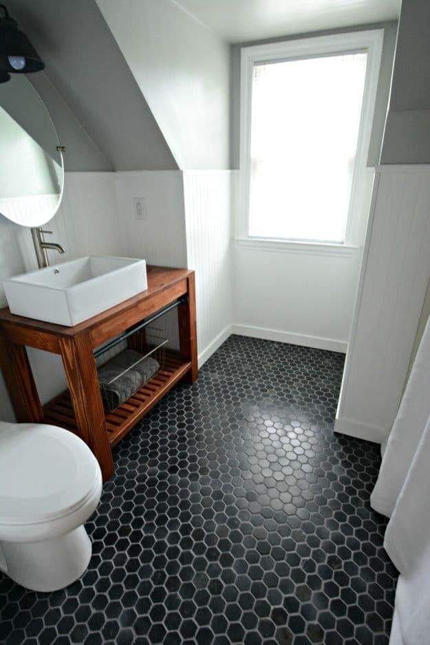 Dark Noir Hex Tiles   It matters to go for less in order not to ...