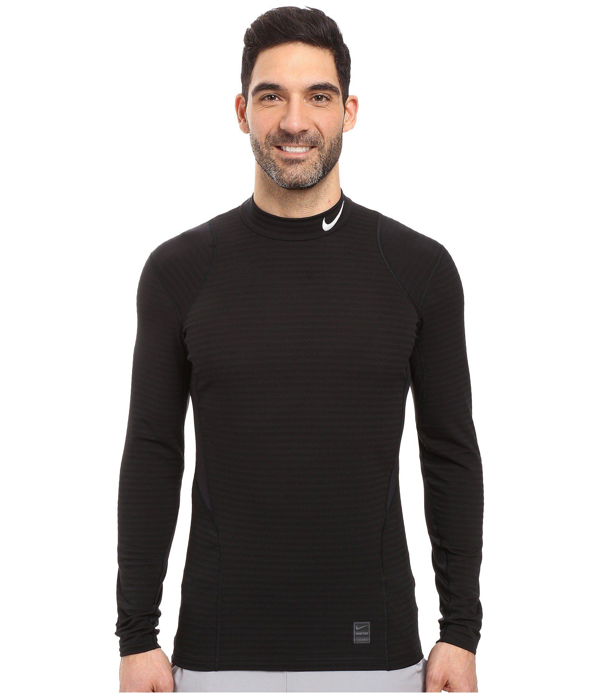 NIKE Pro Warm Mock Long Sleeve Training Top.  nike  cloth    f13171bb2