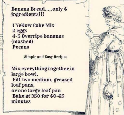 Banana Bread 4 ingredients
