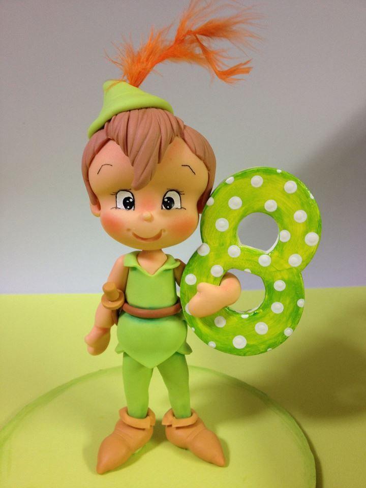 Porcelana fría - Cold porcelain - Sugar Biscuit - Peter Pan