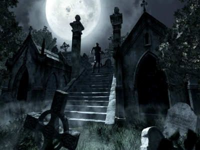 Haunted Cemeteries   Scary Website   Graveyards   Gothic art