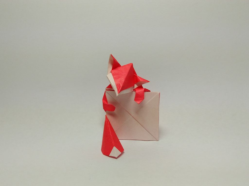 Fox Sign Holder By Wei Lin Chen By Zephyr Liu Origami Sign Holder Diy