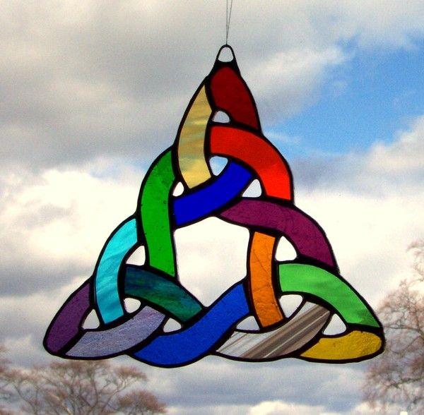 celtic triangle celtic knot design multi colours - Celtic Pictures To Colour