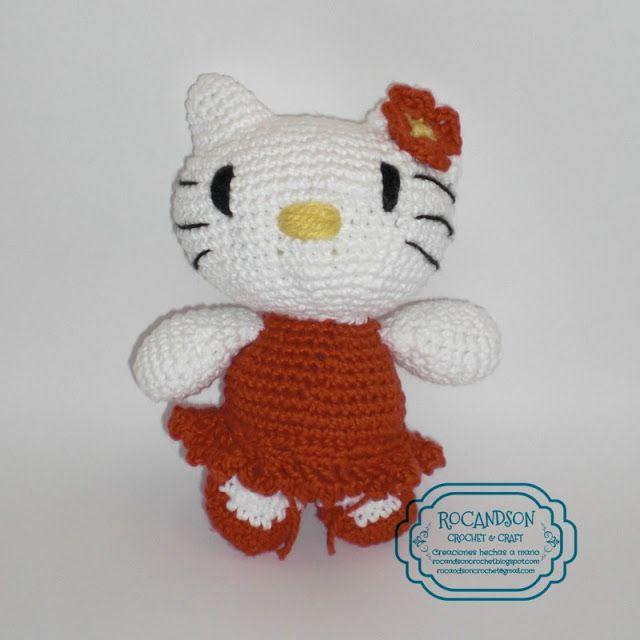 HELLO KITTY EN CROCHET. PATRON GRATIS | AMIGURUMIS | Pinterest