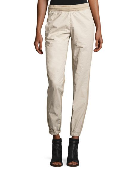 YEEZY Side-Stripe Jogger Pants, Ivory, Military S. #yeezy #cloth #