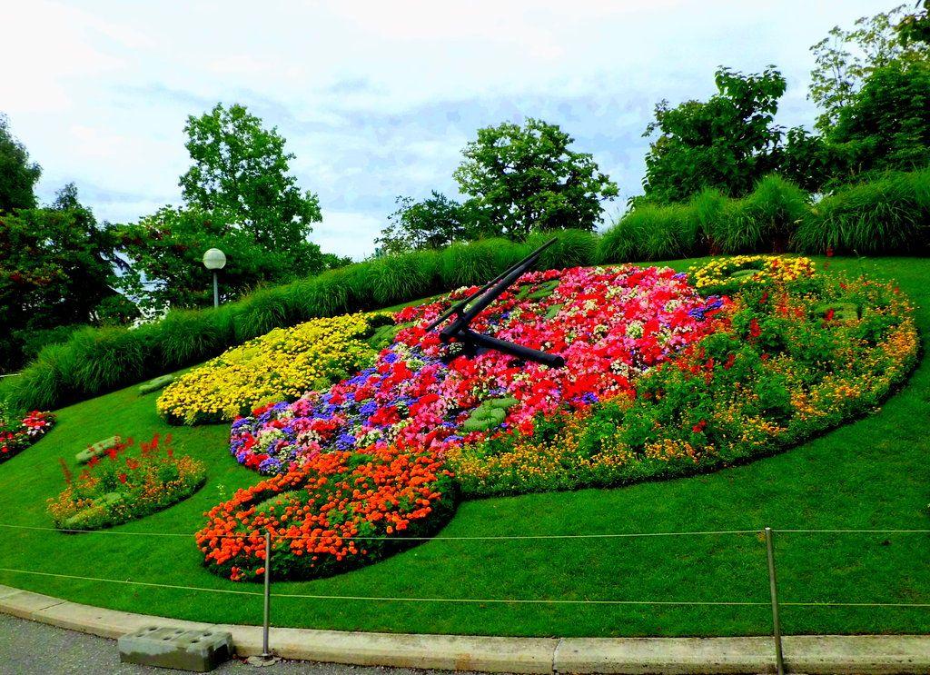 Reloj floral, Jardín Inglés, Ginebra | Jardinería, Suiza y Ginebra
