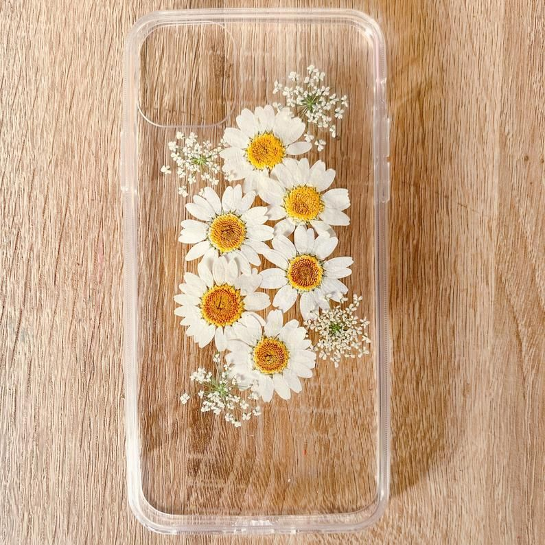 Handmade real dried pressed flower case, iphone 7 8 plus x xr xs 11 12 pro max case, samsung galaxy