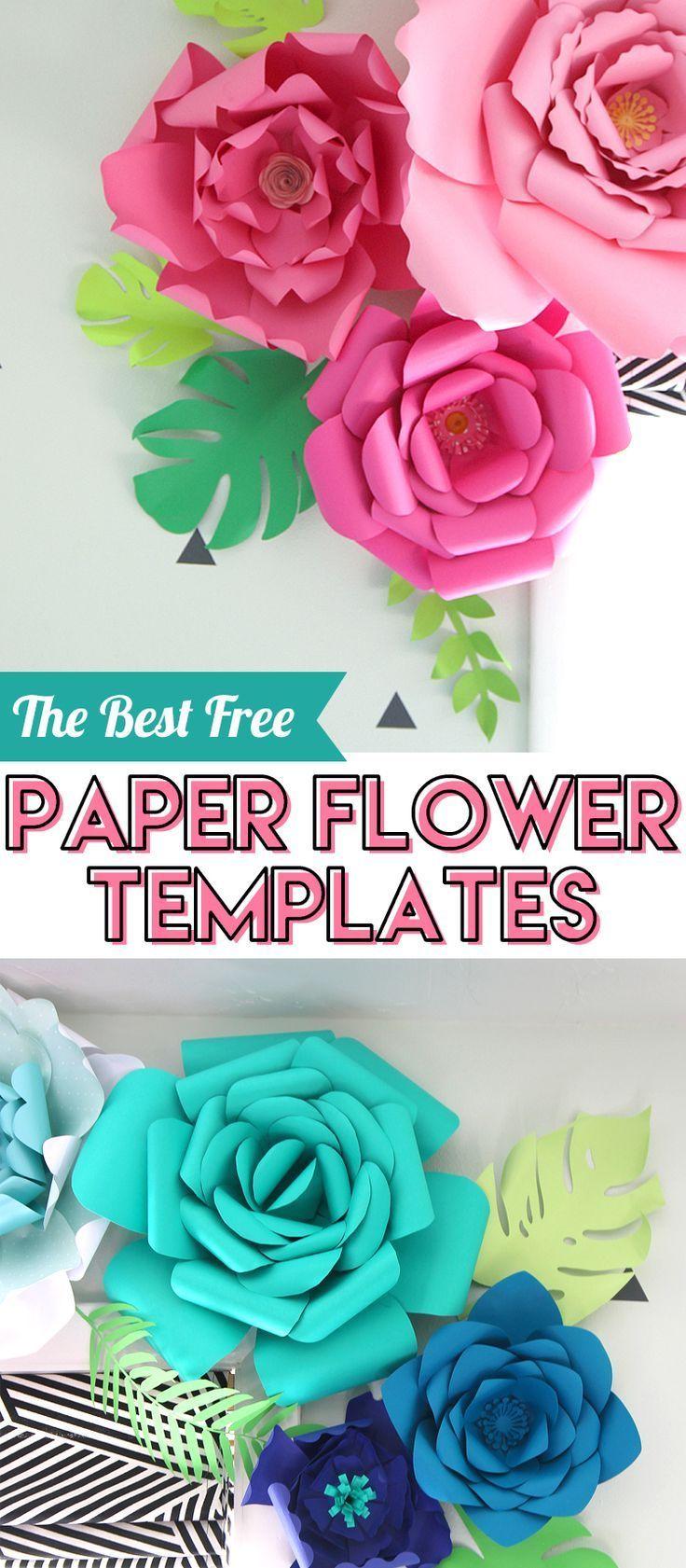Free Paper Flower Templates #paperflowerswedding