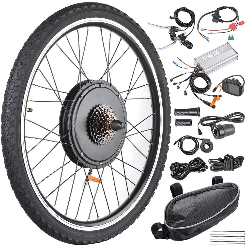 36V500W Hub Motor lektro-Fahrrad Umbausatz Electric Bike Conversion Kit Tire LCD Display Theebikemotor