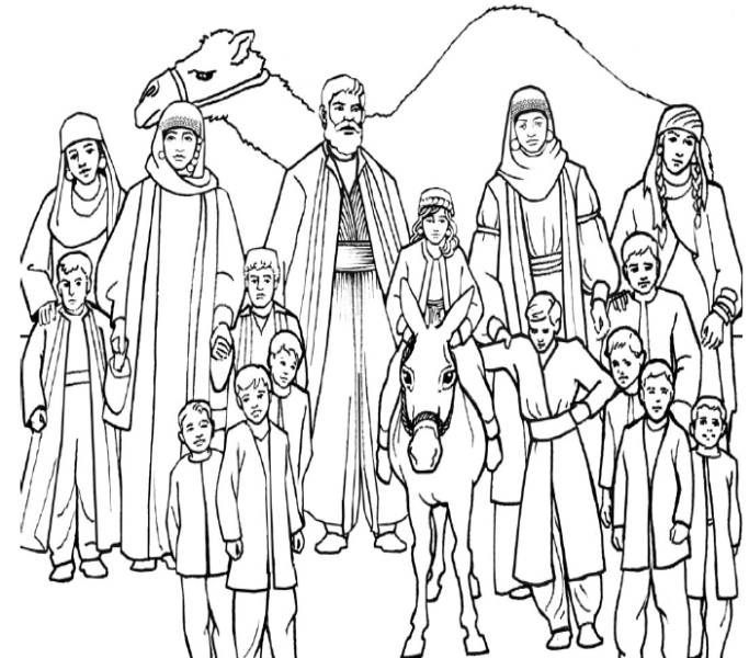 Family And Jacob Coloring Page Bible Coloring Pages Sunday School Coloring Pages Sons Of Jacob