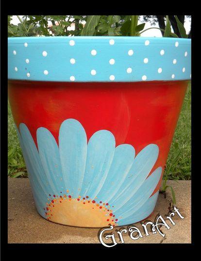 Painted Clay Pots By Granart Flower Pot Art Painted Flower Pots Clay Flower Pots