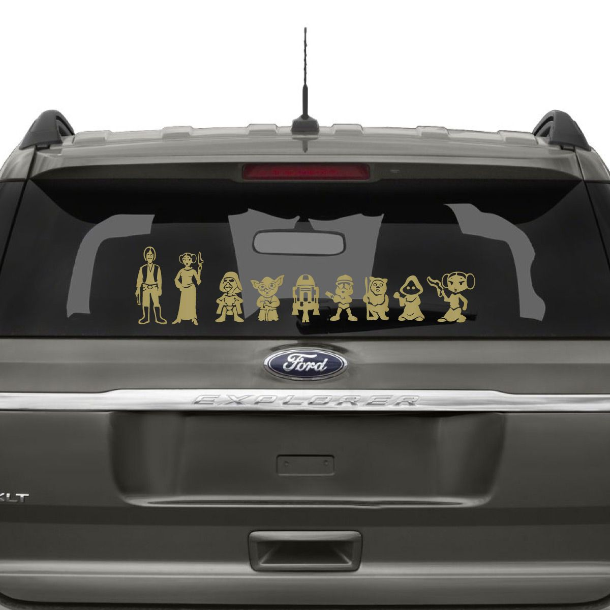 Star Wars Family Car Decal