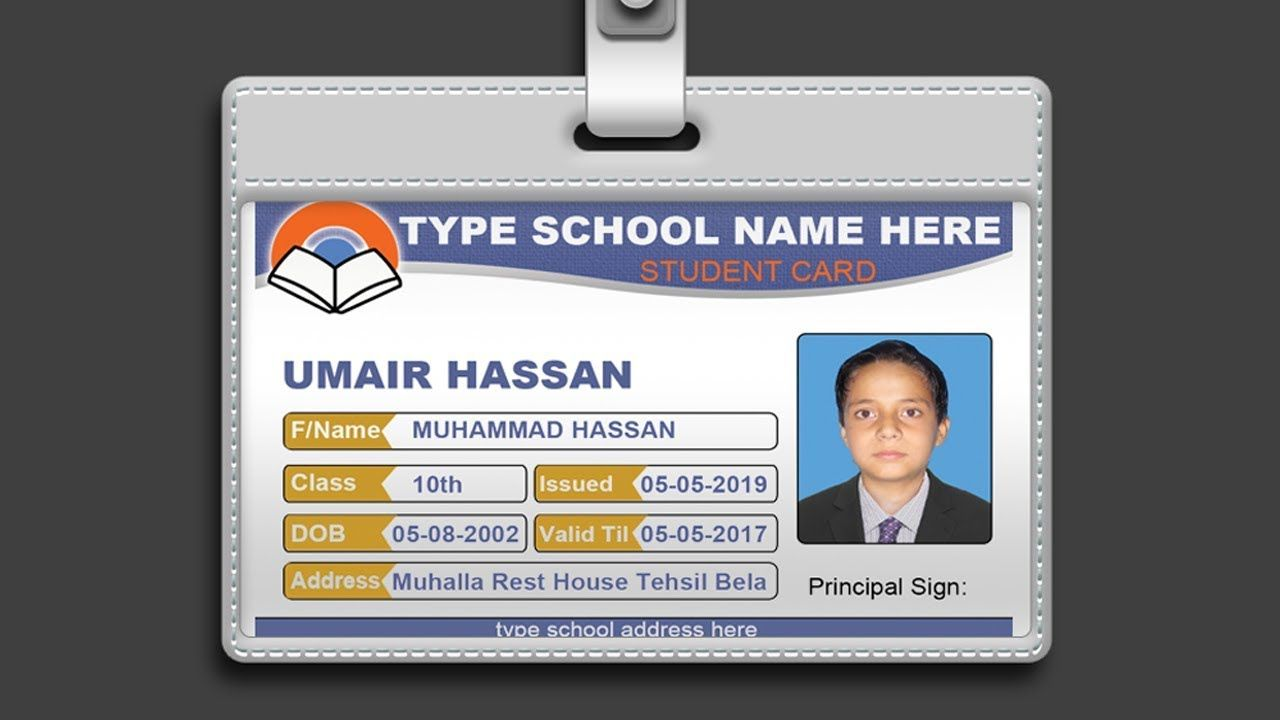 How To Design Id Card In Photoshop Psd Free Download Pertaining To College Id Card Template Psd Cumed Org Id Card Template Employee Id Card Card Template