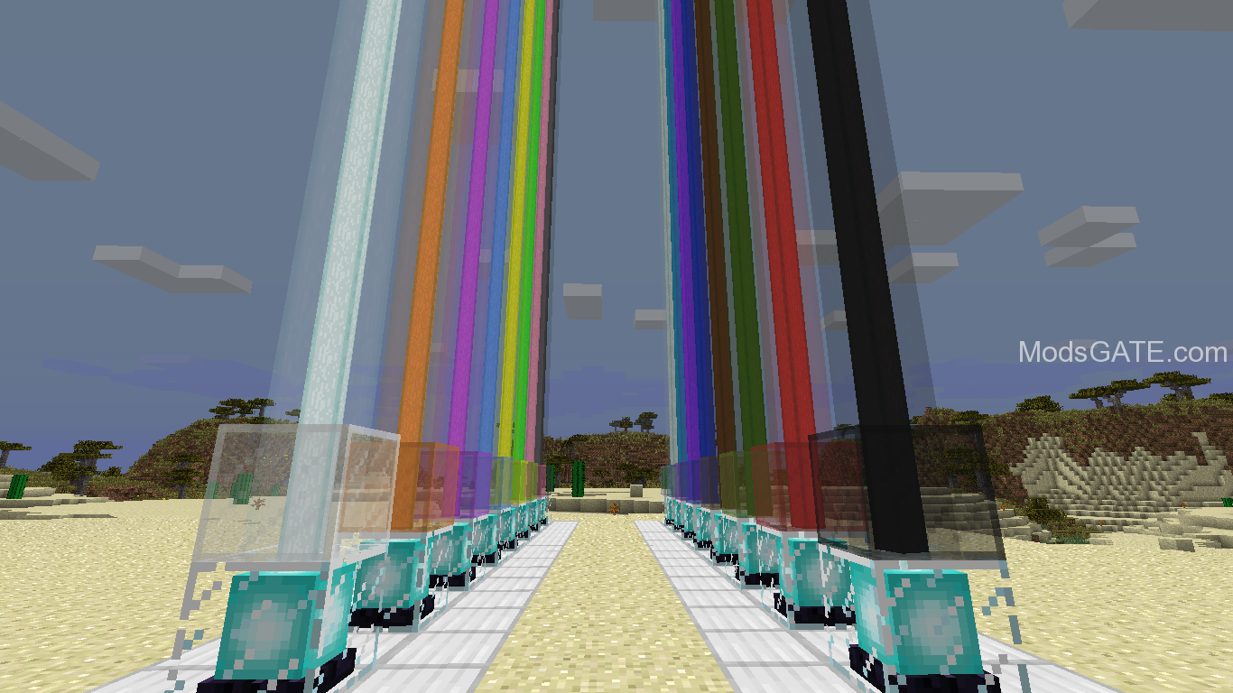 stained glass colored beacon beams mod for minecraft 1 7. Black Bedroom Furniture Sets. Home Design Ideas