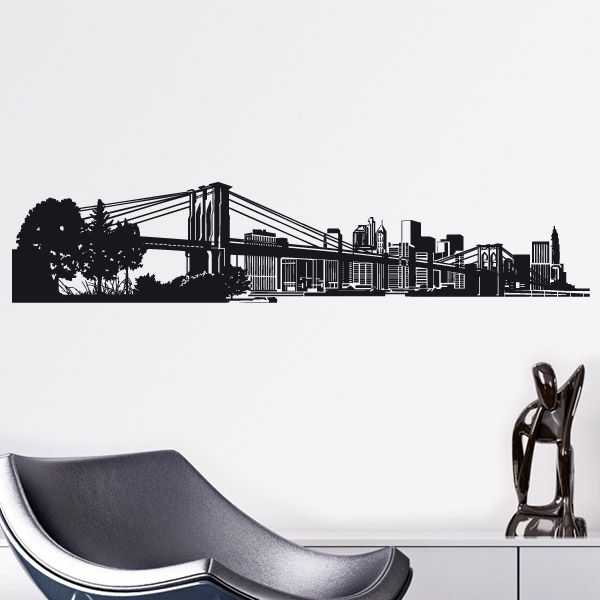 Wandtattoos New York Skyline