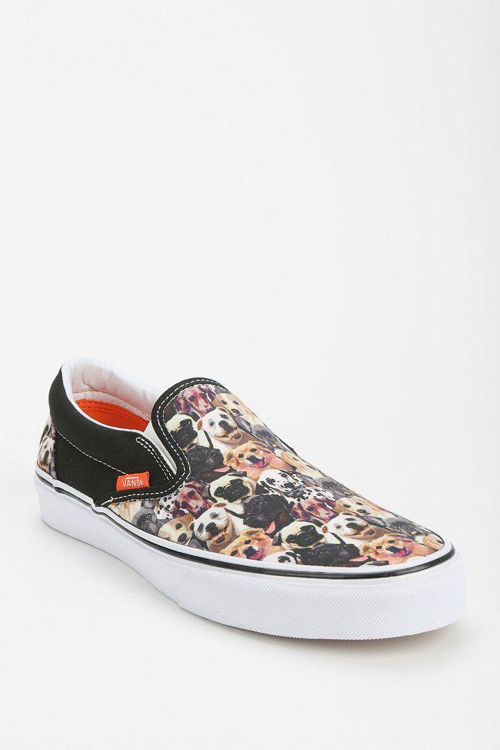vans dog print shoes