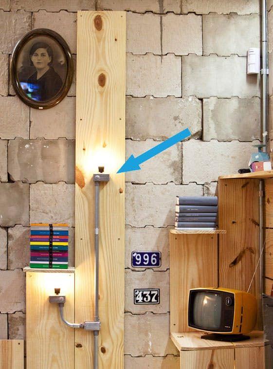 DIY Inspiration: Industrial Electrical Conduit Wall Lighting | Loft ...